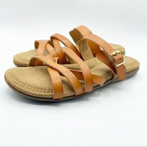 Cliffs White Mountain Fenix Slide Sandal Vegan Tan